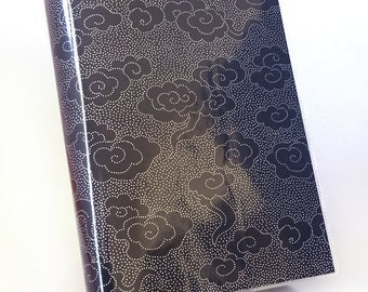 Paperback Book Cover - Reusable, Protective and Adjustable - Large Trade Size - Stylish Book Cover with Silver Dot Cloud Design