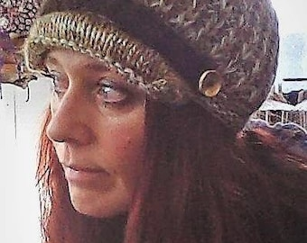 The Kerri - Newsboy/girl Style Cap  - vegan & handspun