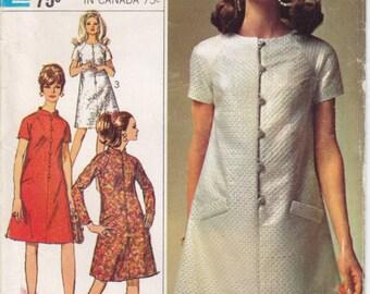 Vintage Pattern Simplicity 7336 Dress 60s Size 14 B34
