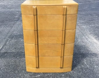 Heywood Wakefield AirFlow 5 Drawer Highboy Dresser Solid Wood