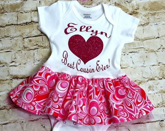 Best Cousin Baby Outfit - Baby Gift - Baby Girl Outfit - Baby Girl Dress - Newborn Gift - 1st Birthday - Personalized - NB to 24 mos