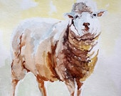 Sheep Print of original watercolor painting Sheep art Sheep watercolor print Sheep painting print Lamb art Lamb painting Nursery wall art