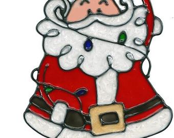 Santa Lights Window Cling