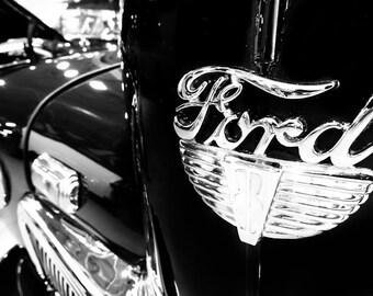 Ford F100 Pickup Truck Logo Car Photography, Automotive, Auto Dealer, Mechanic, Boys Room, Garage, Dealership Art