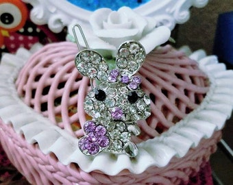 Hair Pin, Hair Clip, Cute Little Bunny