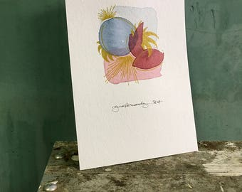 crown / original watercolor / one of a kind painting