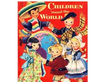 Digital | Print at Home | Paper Dolls Children Around the World Vintage Retro 1955