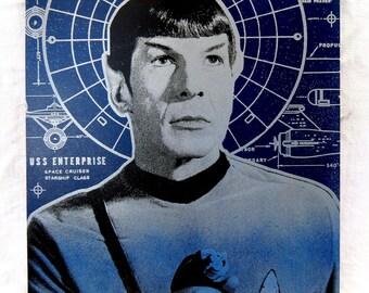 Saint Spock 12x16 Screenprinted Panel