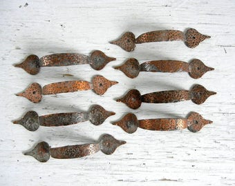 Hammered Copper Drawer Pulls | Handles | Knobs | Copper Hardware | Copper Pulls