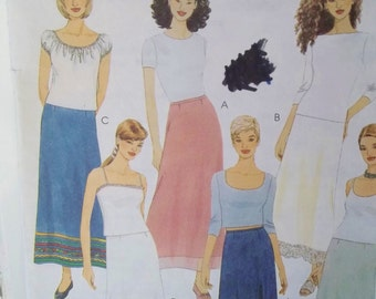 Misses' A Line Skirts McCall's 2800 Sewing Pattern, Semi-Fitted Skirt with Hem Variations, Size 4 - 6 - 8 UNCUT Pattern Destash