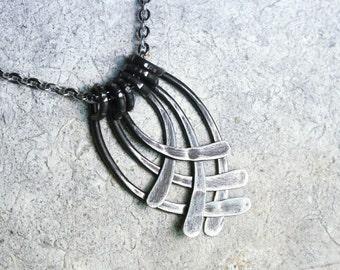 11th Anniversary Gift, Forged Iron Statement Necklace, Iron Anniversary, Steel Anniversary, Iron Necklace, 6th Wedding Anniversary