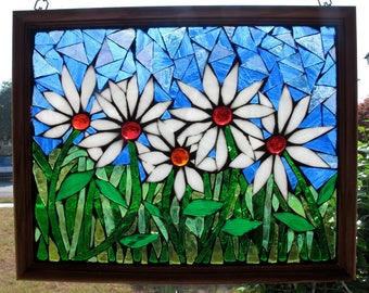 The Daisy Garden - Stained Glass Mosaic