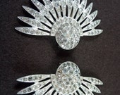 1940s Joan Crawford-style Dress Clips set of 2