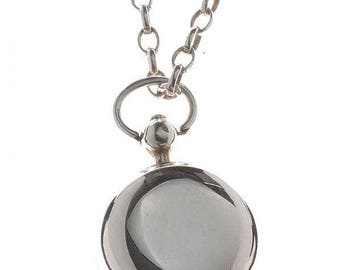 Pocket Watch - Vintage Silver Fob Watch on Chain