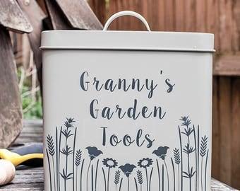 Personalised Garden Storage Tin