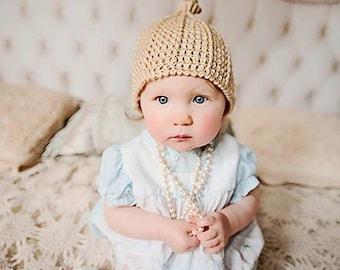 Crochet Top Knot Beanie Pattern Newborn, Baby Crochet Patterns, Easy Crochet Baby Beanie, Cool Baby Hat Pattern, Designer Hat Pattern