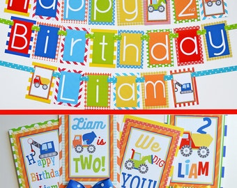 Construction Birthday Party Decorations | Construction Themed Party | Fully Assembled Decorations | Construction Party | Construction Ideas
