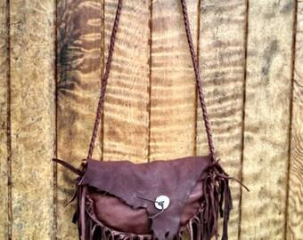 Buckskin Hip Bag or Purse