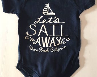 Babies Infants Sailboat Venice Beach California Onesie Bodysuit