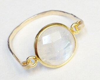 Moonstone Ring   14K Gold Filled Ring   Moonstone Jewelry  April Birthday   April Birthstone