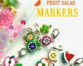 Crochet stitch markers, snag free -FRUIT SALAD