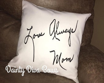 Memory Pillow Case, Memorial Pillow Case, Handwriting Pillow, Keepsake Pillow, Remembrance Gift, Memorial Gift, Personalized Gift, CASE ONLY