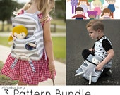 NEW Mini Pals Carry me backpack bag Dress up BUNDLE soft rag doll sewing pattern pdf clothes carrier