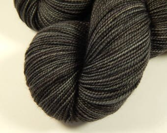 Hand Dyed Yarn - Sock Weight Superwash Merino Wool Yarn - Slate Grey Tonal - Knitting Yarn, Sock Yarn, Charcoal Gray, Fingering Yarn