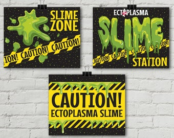 "Ghostbusters Slime 8"" x 10"" Signs - Ghostbuster Party, Birthday Party, Movie Party, Ghostbuster Decor 