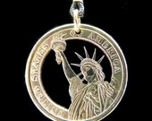 Cut Coin Jewelry - Pendant - US - Statue of Liberty