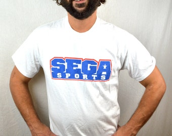 Vintage 90s Sega Sports Tshirt Tee Shirt