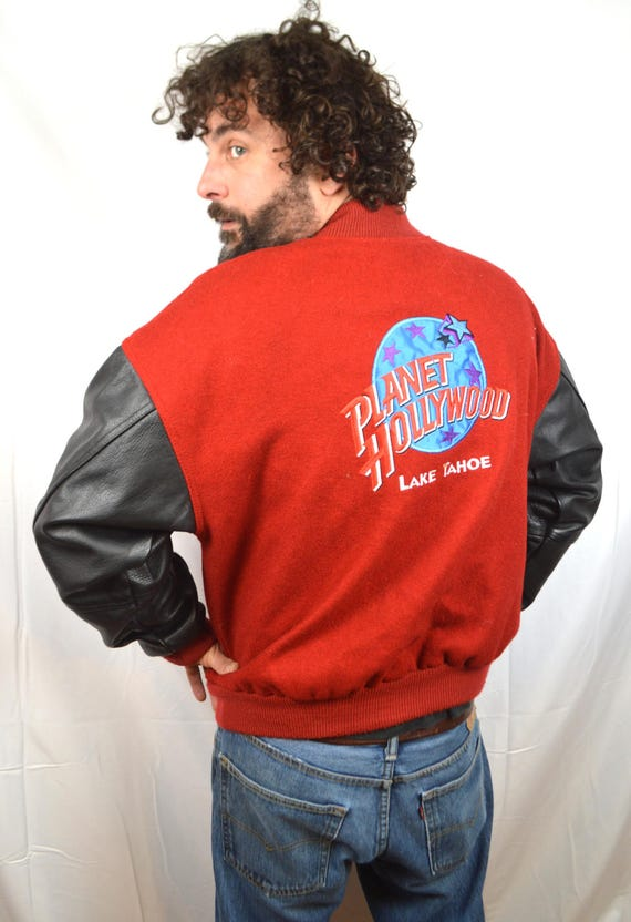 Vintage 90s Planet Hollywood 1990s Large Jacket - Lake Tahoe