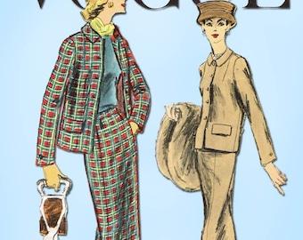 1950s Vintage Vogue Sewing Pattern 8973 Misses Suit w Boxy Jacket Size 34 Bust