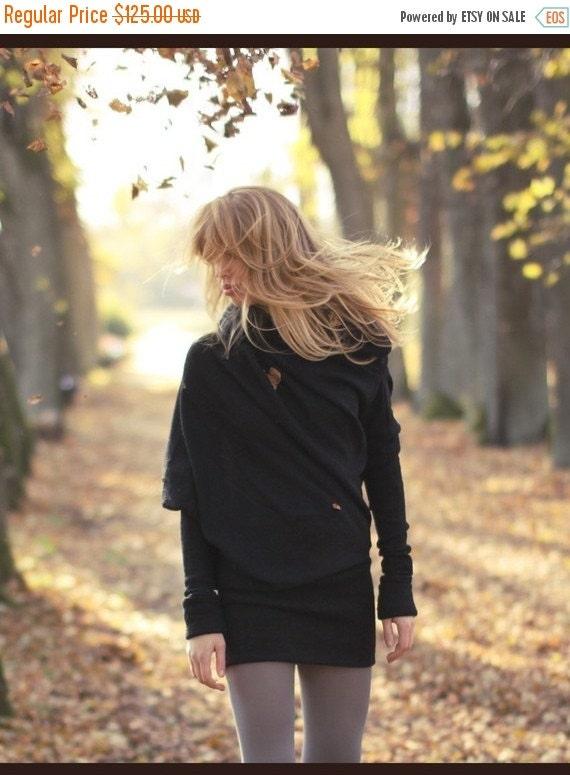 SALE - Black sweater   Designer sweater   Modern sweater   LeMuse black sweater