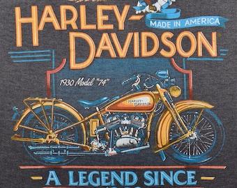 Vintage 80s 1988 HARLEY DAVIDSON Motorcycles Paper Thin Sleeveless T SHIRT M L