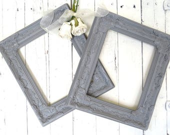 French Country Frames, Vintage Inspired Frames, Gray Frames, Fancy Ornate Frames, Shabby Chic Cottage Decor, French Country, 8x10 Frames