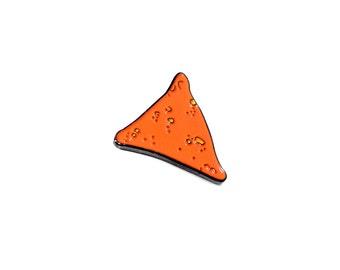 Dorito Lapel Pin - Munchies Snack Junk Food Enamel Pin - Dorito Enamel Pin - Illustration Drawing Comfort Food Pin