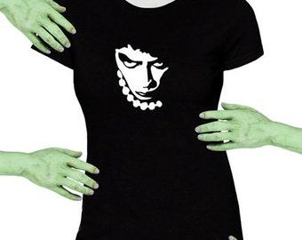 Voodoo Sugar Rocky Horror Frank N Furter Black Missy Fit t-shirt Plus Sizes Available
