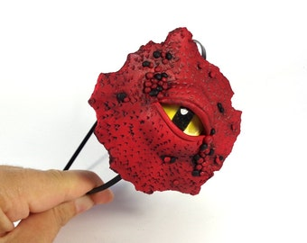 Dragon Eye Diadem, Polymer Clay Diadem, Dragon Eye Headband, Dragon Accessory, Choose Your Colour, Gothic Headband, Polymer Clay Accessory