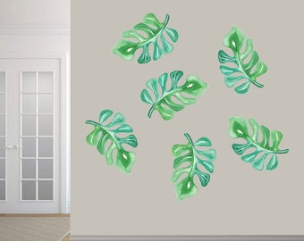 Tropical Branches Printed - Trees and Branches Wallpaper Mural Wall Decals