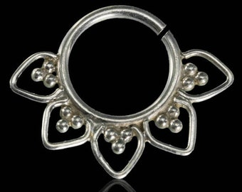 Swati Silver Septum, Septums, Septum ring, Septum piercing, Tribal septum, Indian nose ring, Tribal septum, Septums jewelry
