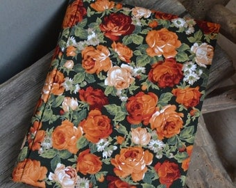 Writing Journal /  Handmade Sketchbook / Handmade Journal / Unique Journal /  Notebook /  Diary /  A5. 8 x 6 inch Vintage roses