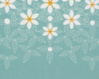 Japanese Tenugui Cotton Towel Fabric, Hand Dyed Fabric, Gardenia, Flower, Floral Pattern, Botanical, Wall Art Hanging, Scarf, Headband, a177