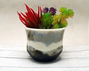 Rustic ceramic planter suit succulents Anita Reay mini pot plant  organic pottery or wabi sabi (imperfect beauty)