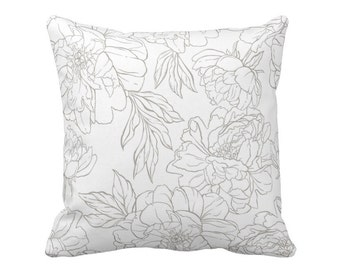 Pillow Cover Modern Floral in White
