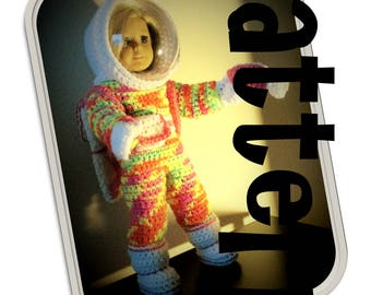 Crochet Pattern: Retro Space Suit for American Girl and similar 18 inch dolls