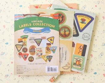 Refill J Vintage Labels Collection stickers set