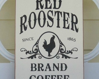 Red Rooster Coffee Etsy