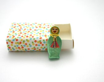 Matryoshka, doll, Hand Painted Sculpture, Miniatures, Cute, Quirky, Clay Sculpture, Baboushka, Ceramic, gift box, matchbox, pocket, totem