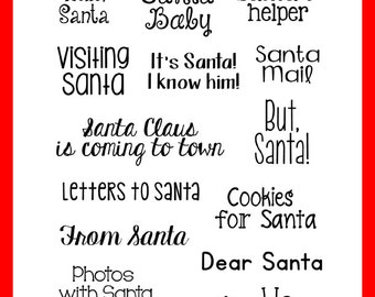 Hello Santa Clear Stamps by Annie's Paper Boutique - Christmas, Holiday, Winter - Card Making, Paper Crafting, Project Life, December Daily